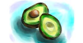 Avocado drawing by Soaring Sunshine