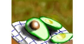 Avocado drawing by SAM AKA MARGARET 🙄
