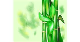 Bamboo drawing by Cec