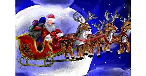 Sleigh drawing by Soaring Sunshine