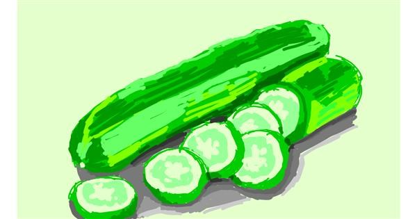 Cucumber drawing by RonNNIEE