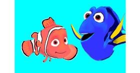 Drawing of Clownfish by Wizard