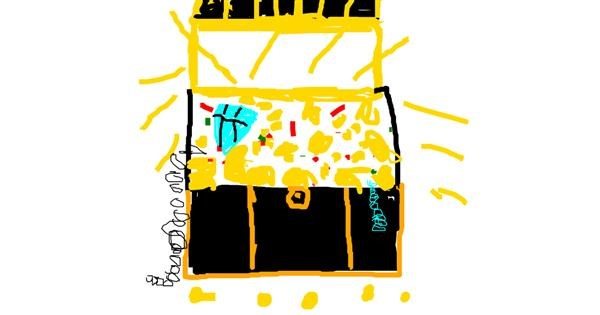 Treasure chest drawing by Anonymous