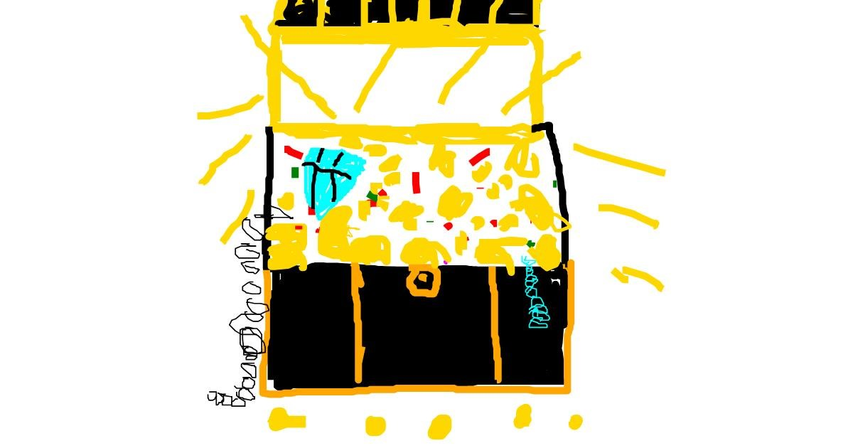Drawing of Treasure chest by Anonymous