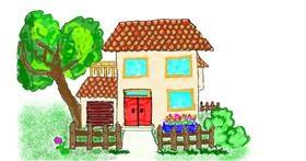 Drawing of House by Frau B.