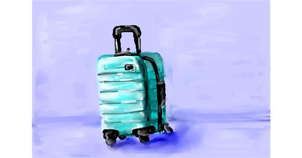 Suitcase drawing by Soaring Sunshine