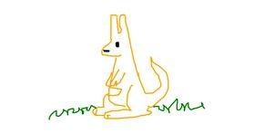 Kangaroo drawing by alle