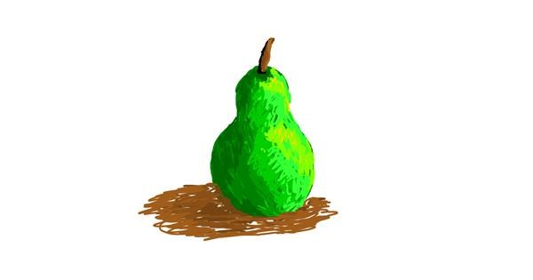 Pear drawing by Princess Ella