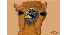 Camel drawing by Stegosaurus