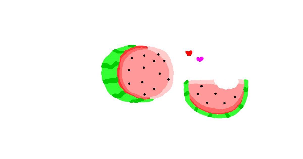 Watermelon drawing by uwu