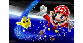 Super Mario drawing by Soaring Sunshine