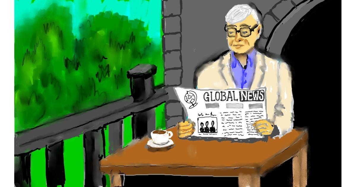Drawing of Newspaper by SAM AKA MARGARET 🙄