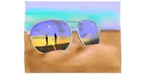 Drawing of Sunglasses by Pinky