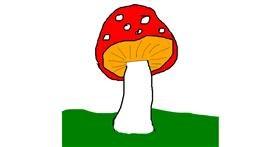 Drawing of Mushroom by Anonymousssd  sdf sdf sdf sdf