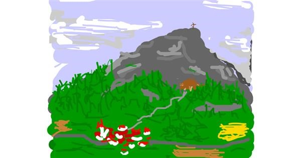 Mountain drawing by Firsttry