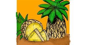 Pineapple drawing by Data