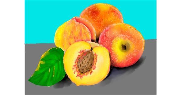 Peach drawing by SAM 🙄