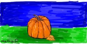 Pumpkin drawing by Astha