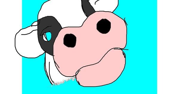 Cow drawing by Mary