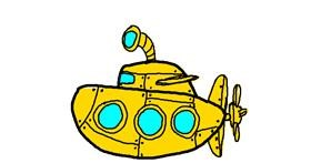 Submarine drawing by api