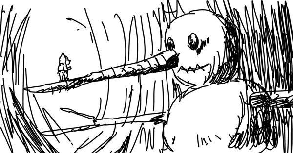 Snowman drawing by haya