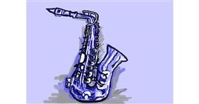 Drawing of Saxophone by 𝐓𝐎𝐏𝑅𝑂𝐴𝐶𝐻™