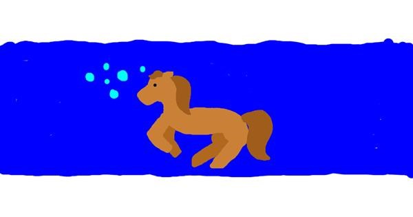 Seahorse drawing by uwu