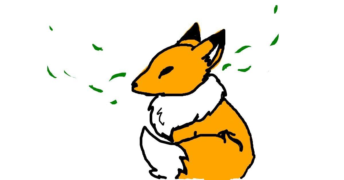 Fox drawing by Ash