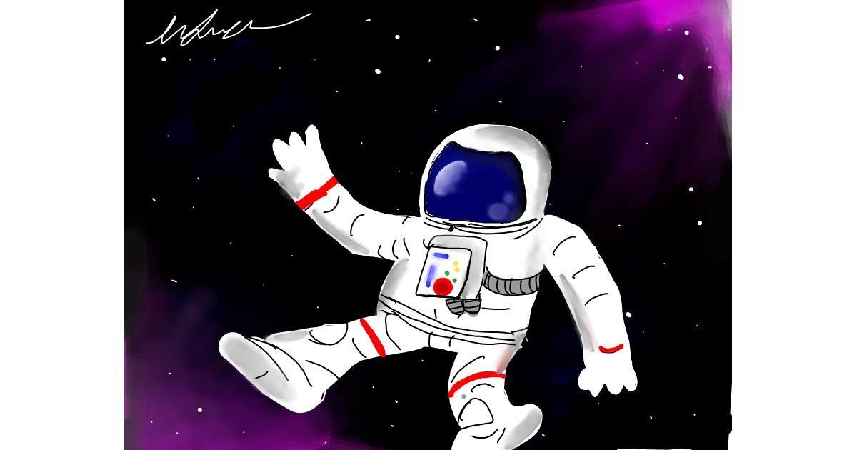 Astronaut drawing by keyla