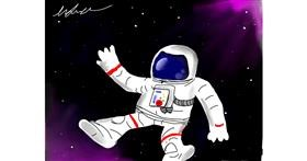 Astronaut drawing by keyla