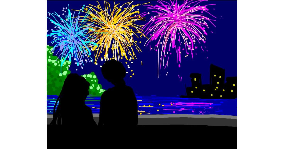 Fireworks drawing by 911 👻