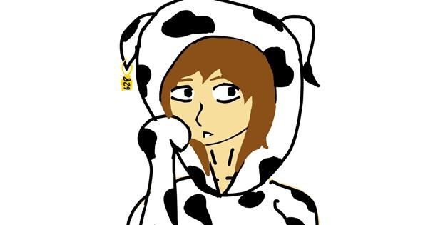Cow drawing by LevelEnderGirl