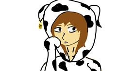 Drawing of Cow by LevelEnderGirl