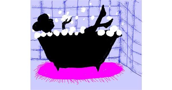 Bathtub drawing by Cherri