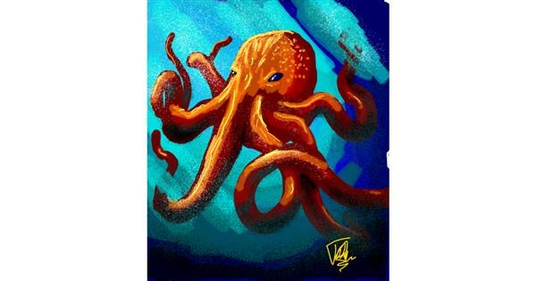 Octopus drawing by Thomas