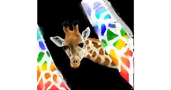 Giraffe drawing by Rose rocket