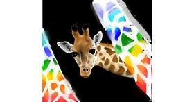 Drawing of Giraffe by Rose rocket