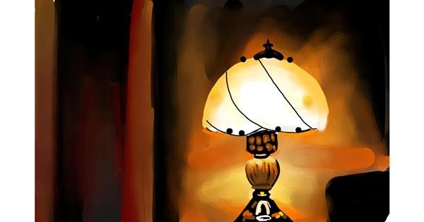 Lamp drawing by Rose rocket