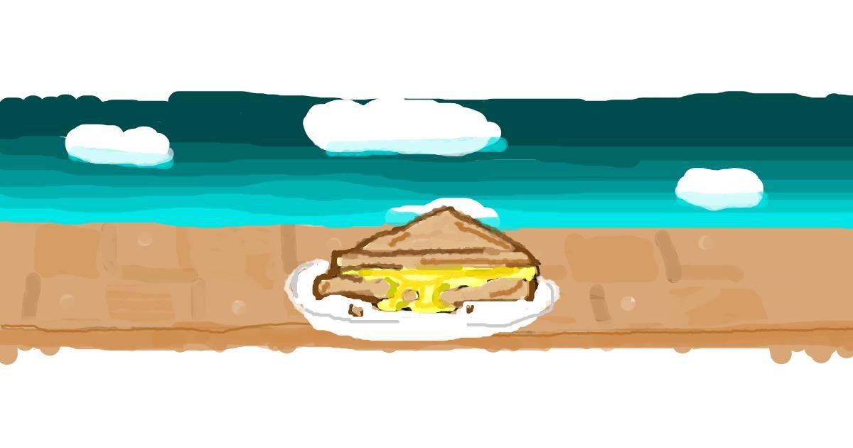 Sandwich drawing by Stacia🍟🍔🍩