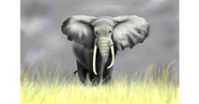 Drawing of elephant by Wizard