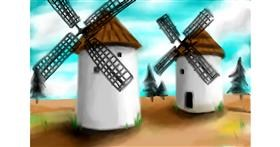 Windmill drawing by Sophie_draw24