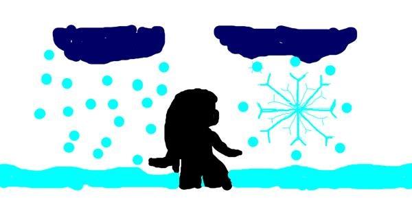 Snowflake drawing by KAYLEN