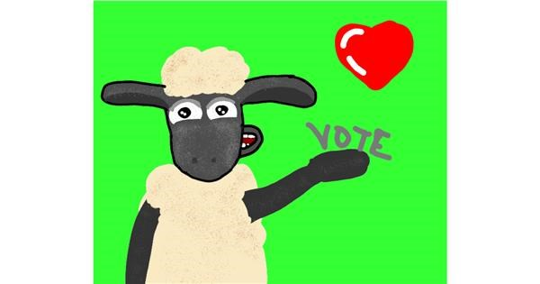 Sheep drawing by Christine 2