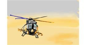 Helicopter drawing by Rose rocket