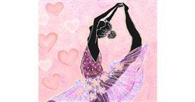 Ballerina drawing by Shalinee