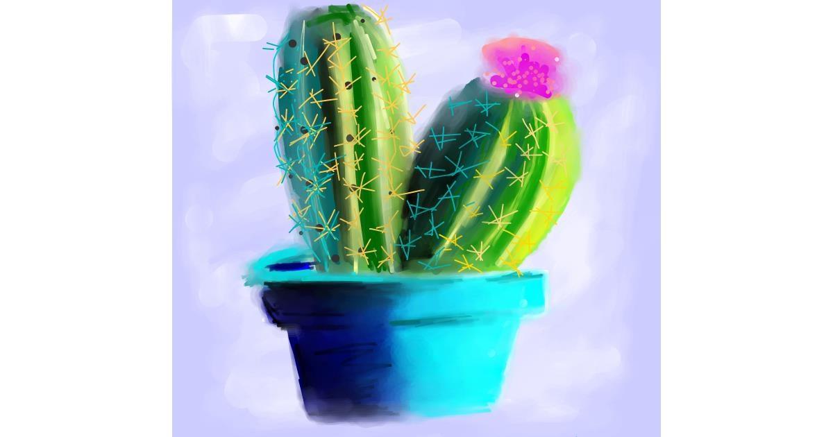 Drawing of Cactus by Ankita Sharma