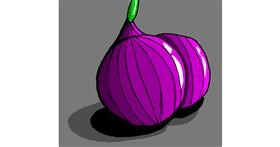 Onion drawing by Loves