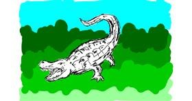 Alligator drawing by Lsk