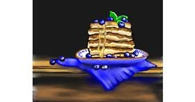 Pancakes drawing by Cec