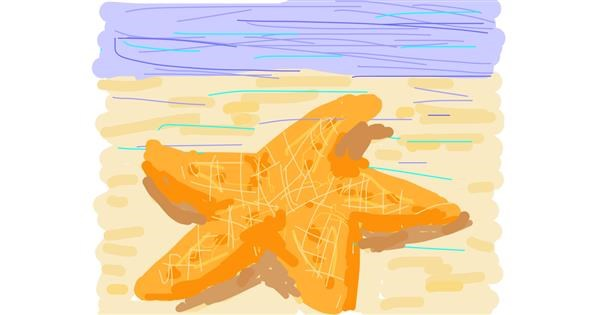 Starfish drawing by Firsttry